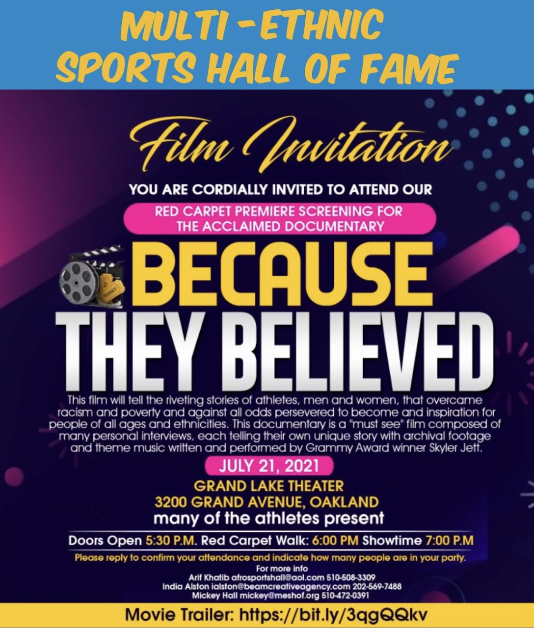 Becuase They Believed | NFL Alumni Northern California Chapter